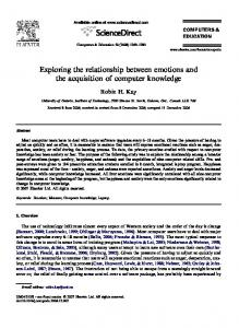 Exploring the relationship between emotions and the acquisition of ...