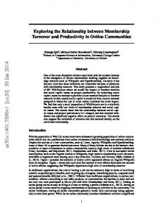 Exploring the Relationship between Membership Turnover and ...