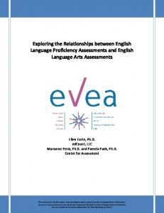 Exploring the Relationships between English Language Proficiency ...