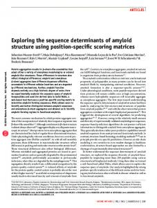 exploring the sequence determinants of amyloid structure ... - Nature