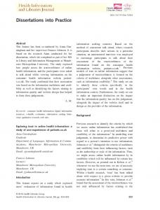 Exploring trust in online health information: a ... - Wiley Online Library
