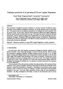 Explosion prediction of oil gas using SVM and Logistic Regression