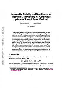 Exponential Stability and Stabilization of Extended ... - arXiv