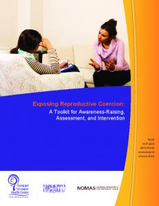 Exposing Reproductive Coercion - Community Solutions to Sexual ...