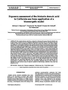 Exposure assessment of the biotoxin domoic acid in California sea ...
