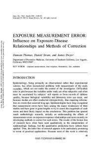 Exposure Measurement Error: Influence on ... - Multiple Choices