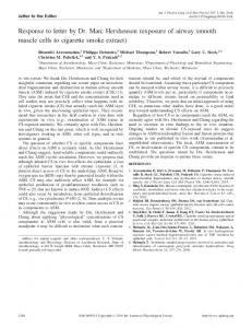 exposure of airway smooth muscle cells to cigarette smoke extract