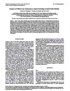 Exposure of Children and Adolescents to Alcohol ... - Oxford Journals