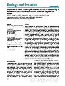 Exposure of trees to droughtinduced dieoff is ... - Wiley Online Library