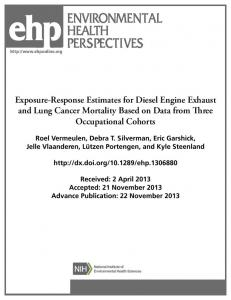 Exposure-Response Estimates for Diesel Engine Exhaust and Lung ...