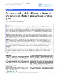 Exposure to a dog elicits different cardiovascular and ... - BioMedSearch