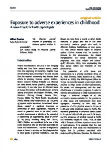 Exposure to adverse experiences in childhood - European Health ...