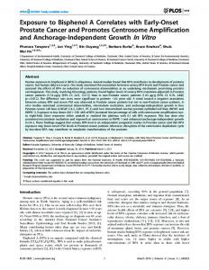 Exposure to Bisphenol A Correlates with Early ... - Semantic Scholar