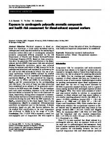 Exposure to carcinogenic polycyclic aromatic compounds and ... - Core