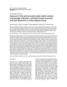 Exposure to fine airborne particulate matter induces macrophage ...