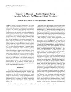 Exposure to Flaxseed or Purified Lignan During ... - Semantic Scholar