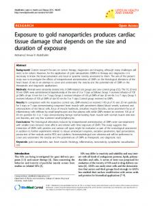 Exposure to gold nanoparticles produces cardiac ... - BioMedSearch