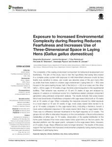 Exposure to Increased Environmental Complexity during ... - Core