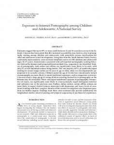 Exposure to Internet Pornography among Children and Adolescents ...