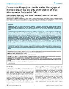 Exposure to Lipopolysaccharide and/or Unconjugated ... - CiteSeerX