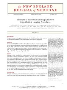 Exposure to Low-Dose Ionizing Radiation from Medical Imaging ...