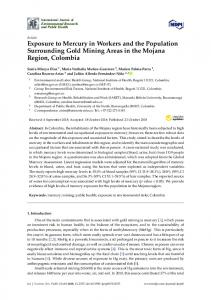 Exposure to Mercury in Workers and the Population ... - MDPI