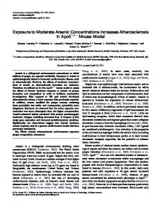 Exposure to Moderate Arsenic Concentrations ... - Oxford Journals