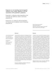 Exposure to non-ionizing electromagnetic radiation from mobile ...