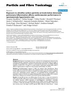 Exposure to ultrafine carbon particles at levels below detectable ...