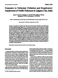 Exposure to Vehicular Pollution and Respiratory ... - CiteSeerX