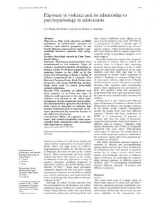 Exposure to violence and its relationship to ... - Europe PMC
