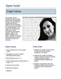 Express Yourself Project - Mrs. Cullen