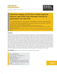 Expression analysis of salt stress related expressed sequence tags