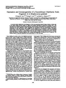 Expression and Immunogenicity of a Recombinant Diphtheria Toxin ...