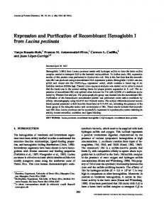 Expression and Purification of Recombinant