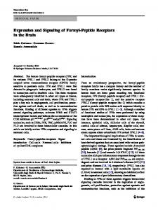 Expression and Signaling of Formyl-Peptide ...
