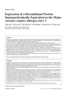 Expression of a Recombinant Protein Immunochemically ... - JIACI