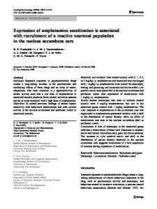 Expression of amphetamine sensitization is ... - BioMedSearch