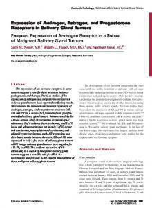 Expression of Androgen, Estrogen, and Progesterone Receptors in ...
