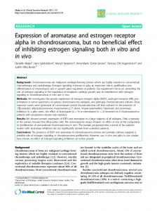 Expression of aromatase and estrogen receptor alpha in ...