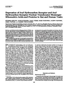 Expression of Aryl Hydrocarbon Receptor and Aryl Hydrocarbon ...