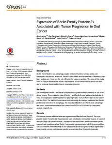 Expression of Beclin Family Proteins Is Associated