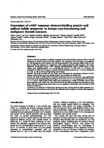 Expression of cAMP response element-binding protein and sodium ...