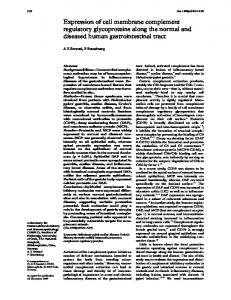 Expression of cell membrane complement regulatory ... - NCBI