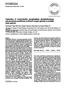 Expression of ectonucleotide pyrophosphate phosphodiesterase and ...