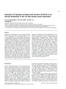 Expression of estrogen receptors and enzymes ... - Semantic Scholar