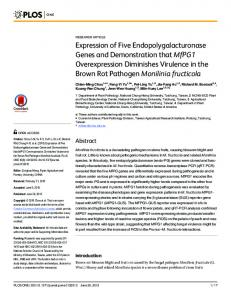 Expression of Five Endopolygalacturonase Genes and Demonstration ...