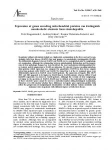 Expression of genes encoding mitochondrial