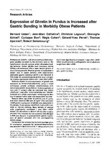Expression of ghrelin in fundus is increased after ... - Springer Link