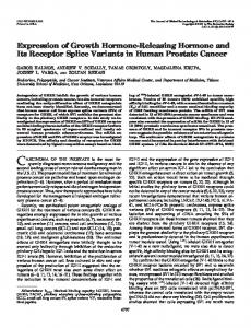 Expression of Growth Hormone-Releasing Hormone and Its Receptor ...